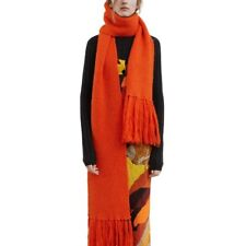 Acne Studios Fransen Schal Abby Alpaka Wolle Orange Rot XL Fire Red Scarf Alpaca