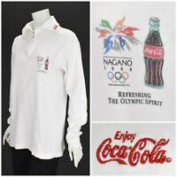 Vintage 1998 Coca Cola Nagano Olympic Games Long Sleeve T-Shirt 90s Graphic XL