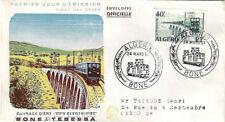 ALGÉRIE ENVELOPPE FDC 1er JOUR 1957 - YT340 - Ouvrage d'Art - Bone