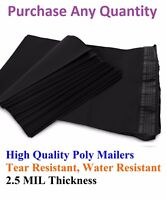 6x9 Black Poly Mailers Shipping Envelopes Plastic Mailing Bags Colorful 6 x 9