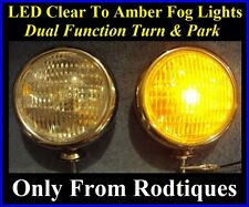 """LED Clear to Blue Chrome 5/"""" Lights Fog Driving Accent Parking Universal Fit 1"""