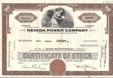 Nevada Power Company stock certificate 100 shares