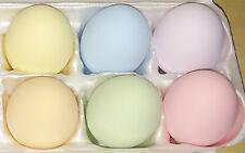 Faux Ceramic Chicken Eggs Pastel 6 Dummy Nesting Training Egg Crafting 1/2 dozen