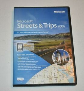2006 Microsoft Streets and Trips Software 2 CD Set - Complete