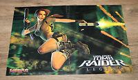 Tomb Raider Legend / Burnout Revenge rare small poster 42x28cm