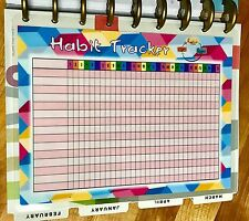 Monthly Habit Tracker Dashboard Insert for use with HAPPY Planner