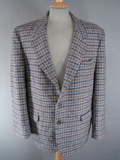 CLASSIC BRITISH MADE HANDWOVEN PURE WOOL CHECKED HARRIS TWEED JACKET 44 INCH