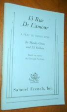 13  RUE  DE  L'AMOUR  by Mawby Green and Ed Feilbert    SC