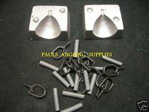 CARP FISHING BACK LEAD WEIGHT MOULD KIT WITH CLIPS TFT