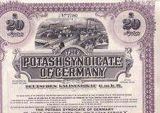 Deutsches Kali gruppo ci GmbH/the Potash Syndicate of Germany 1925 £ 20