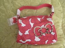 Hello Kitty Sanrio 35th Anniversary Colors Handbag Purse Bow w/ Charm NEW