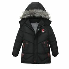 Kids Winter Hooded Jacket Cotton Padded Clothes Children Thick Warm Zipper Coats