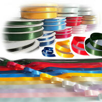 Satin Ribbon in Cut Lengths Double Sided Faced  - choose width colour and length