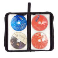 DI- KQ_ KQ_ 80 Slot DVD CD Holder Album Storage Case Empty Folding Carry Bag Org