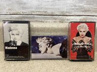 Lot of 3 MADONNA Cassette Tapes. Madonna, True Blue, You Can Dance