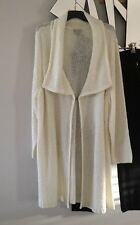 AUTOGRAPH Cream Cable Knit Cardigan Bed Robe Jacket Coat Long Sleeves Stretch XL