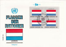 1980 United Nations Flags of the Nations Luxembourg FDC Unadressed VGC