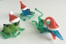"Holiday Mini Sculptures - 3 Piece Set (apprx 1-3"" each) Art Glass, Gayle Weyland"