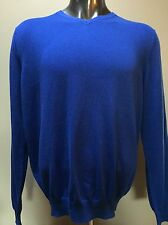 NWT Foxcroft Cotton Cashmere Blend - Royal Blue V-Neck Sweater Shirt - Size: XL
