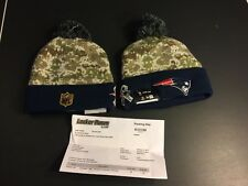New England Patriots New Era Knit Beanie NFL On Field 2015 Salute To Service