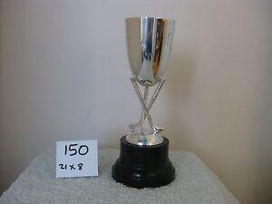 "8.5"" SILVER PLATED GOLF CLUB TROPHY CUP . 150"