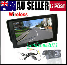 "Wireless Car Rear View Kit 4.3"" TFT LCD Monitor + 7 IR LED Reversing Camera"