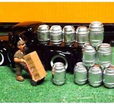 """SET OF 16 """" O Scale Beer Kegs Beer Barrels DIORAMA MODEL TRAIN SET"""