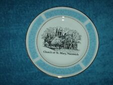 More details for jim franter collectors plate the church of st mary, nantwich 21 cm wide