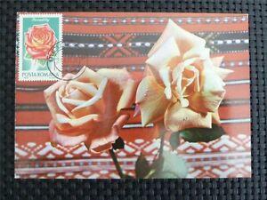 ROMANIA MK 1970 ROSES ROSE ROSEN MAXIMUMKARTE CARTE MAXIMUM CARD MC CM c4859