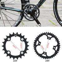 Black 22T/44T Mountain Road Bike 104mmBCD Chainring For Shimano 9 Speed Crank ZH