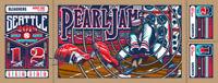 Pearl Jam Seattle 2018 Home Shows VARIANT AP AE Poster Art Print Brad Klausen