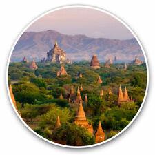 2 x Vinyl Stickers 25cm - Temples Bagan Myanmar Burma Cool Gift #3529