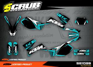 KTM dekor SXC 625 640 660 LC4 1999 - 2005 '99 - '05 Aufkleber SCRUB * ENDURO *