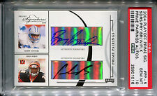 2004 Prime Pairings Quad Auto BARRY SANDERS MARSHALL FAULK Jersey #28 /31 PSA 10