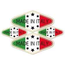 Made in Italy Laminated Sticker set Car Motorbike scooter Vespa Alfa Italian