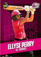 ✺New✺ 2019 2020 SYDNEY SIXERS WBBL Cricket Card ELLYSE PERRY