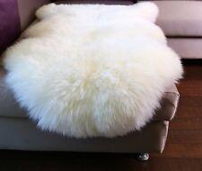 Australian Sheepskin Long Wool Rug Lambskin Rug White Ivory Multiple Sizes