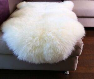 [EXTRA 15% OFF] Australian Sheepskin Long Wool Rug Lambskin Rug White Ivory