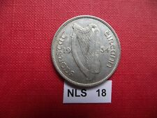 IRELAND (ÉIRE). 1934 SILVER HALF CROWN. NICE CONDITION #NLS18