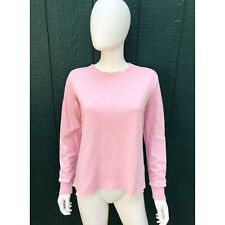 AMO DENIM PINK PULLOVER LONG SLEEVE SHIRT SMALL S
