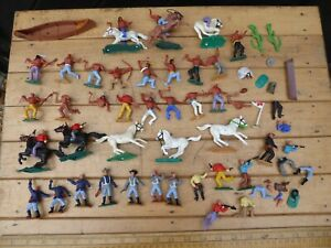 Vintage 1970s Timpo Cowboys / Indians - mixed lot of Wild West / ACW era Timpo