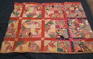 Old antique vintage cutter quilt pieces/scraps/sections