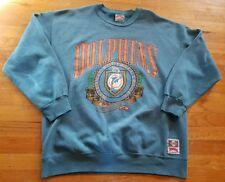 Miami Dolphins Vintage Nutmeg Sweatshirt Mens XL NFL 90's Teal MIA Marino EUC!