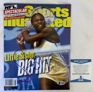 Serena William signed Sports Illustarted SI magazine 1999 Beckett BAS