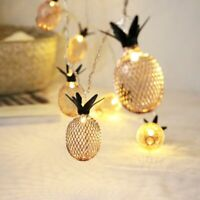 Pineapple String Lights For Bedroom Battery Operated Electric Gold Japanese