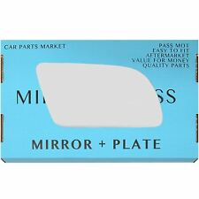 Right Driver side Flat Wing door mirror glass for Volvo 440 460 480 87-91 +plate
