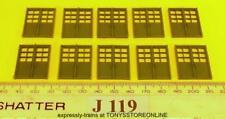 j119 jouef made ho spares 10x double door/window frames 27mmx22mm unglazed green