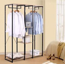 Porte-manteau Portant à vêtements avec étagère en bois et acier SR0048hei