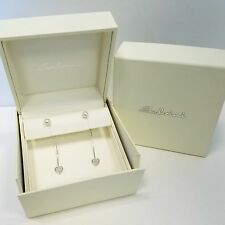 Salvini 18K White Gold Earrings with Diamonds and Pearls New! MSRP $3,640