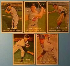 1957 Topps vintage old baseball cards 5-card Lot *Vg-Ex+* *Jim Busby #309*